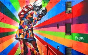 Wallpaper graffiti, artist, Eduardo Kobra