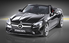 Picture Roadster, Mercedes-Benz, Roadster, black background, Mercedes, AMG, R172, SLK-Class, Piecha Design