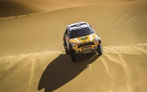 Picture Sand, Yellow, Desert, Shadow, Mini Cooper, Rally, Dakar, MINI, Mini Cooper, Dune, X-raid