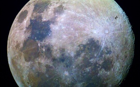Picture surface, the moon, satellite, Moon, the contours