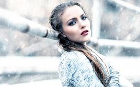 Picture girl, snow, makeup, Frozen, Alessandro Di Cicco