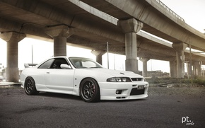 Picture nissan, turbo, white, wheels, skyline, jdm, tuning, gtr, front, face, r33, nismo