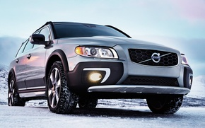 Picture The sky, Volvo, Snow, Grey, Cars, XC70