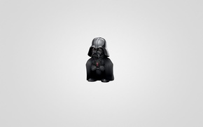 Picture minimalism, Star Wars, Star wars, light background, Darth Vader, Darth Vader