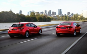 Picture red, Auto, sedan, hatchback, Mazda, skyactive