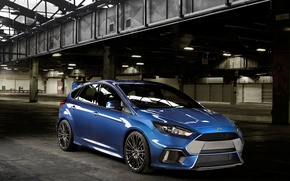 Picture photo, Ford, Blue, Car, 2015, Metallic, Focus RS
