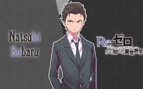 Picture look, anime, costume, guy, Subaru, Re: Zero kara hajime chip isek or Seikatsu, From scratch, ...