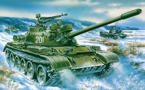 Picture weapons, Wallpaper, tank, armor, T-55A