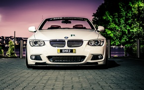 Picture white, BMW, BMW, white, convertible, E93, The 3 series