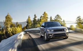 Picture Road, Machine, Jeep, Land Rover, Range Rover, Driver, Sport, Blur, In motion