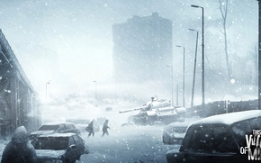 Picture snow, war, tank, This War of Mine