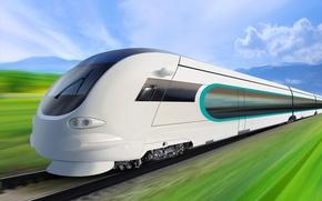 Picture train, speed, beauty, locomotive