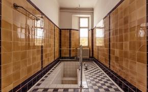 Wallpaper reflection, Windows, mirror, bath, sunlight, bathroom, heater