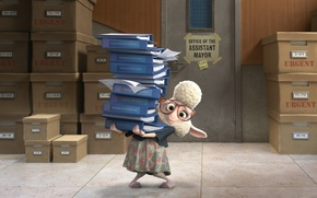Picture cinema, animation, Disney, dress, fox, cartoon, orange, movie, animal, full hd, sheep, glasses, film, door, …