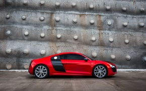 Picture Audi, Audi, tuning, profile, red, red