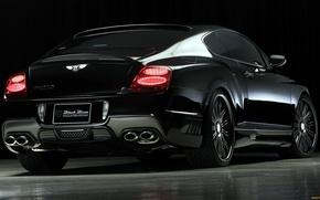 Picture black, Bentley, Continental, Bentley, rear view, Black, continental