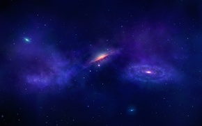 Wallpaper space, stars, galaxy