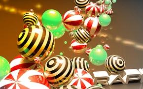 Wallpaper balls, ball, sphere, glossy, Wallpaper art, cinema 4D