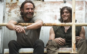 Picture The Walking Dead, The walking dead, Andrew Lincoln, Norman Reedus, Daryl Dixon, Rick Grimes