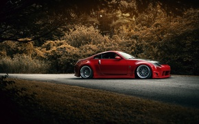 Picture red, Nissan, 350Z, stance, kit