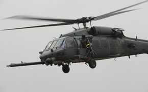 Picture flight, soldiers, helicopter, machine gun, USA, BBC, HH-60, Pave Hawks