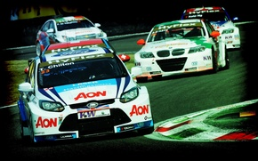 Picture background, Wallpaper, track, Ford, Chevrolet, race, car, Focus, Cruze, WTCC, the world championship in touring ...