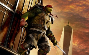 Picture weapons, fantasy, headband, knives, red, poster, Raphael, Teenage Mutant Ninja Turtles: Out of the Shadows, …