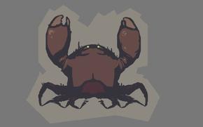 Picture crab, minimalism, cartoon