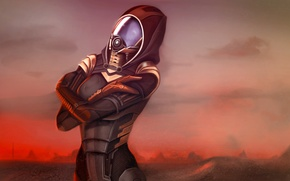 Picture clouds, planet, dust, the atmosphere, Mass Effect, Tali