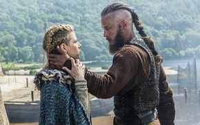 Picture the series, Lagertha, drama, Vikings, Katheryn Winnick, Travis Fimmel, historical, The Vikings, Ragnar Lothbrok