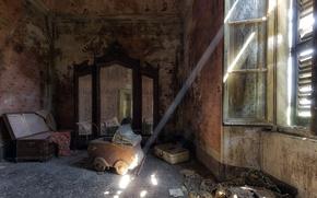 Picture room, window, stroller