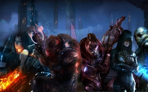 Picture Mass Effect 3, Thane, garrus, gryunt, Miranda, they are going to save us, Kasumi