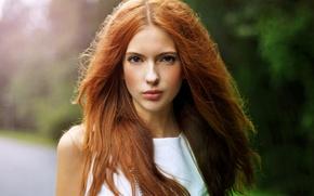 Picture girl, red, beautiful, cute girl, ebba zingmark