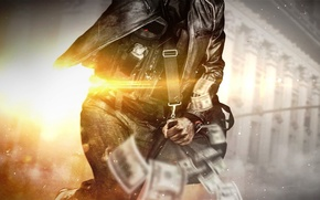 Wallpaper Battlefield: Hardline, Robbery, Robbery, Battlefield Hardline: Robbery, Bag, Money, Visceral Games, Electronic Arts, The vest, ...