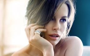 Picture look, girl, face, actress, brunette, Kate Beckinsale, Kate Beckinsale