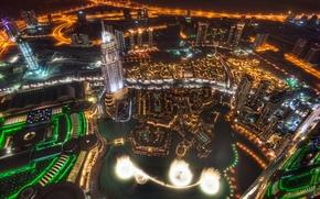 Picture night, the city, skyscrapers, Dubai, Dubai, UAE, Dubai