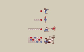 Picture attack, the game, minimalism, fighter, the trick, 8bit, combo