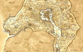 Wallpaper brown, Oblivion, map