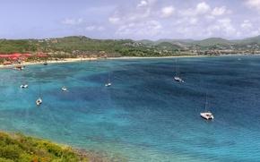 Wallpaper vacation, Bay, yachts
