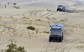 Picture Sand, Blue, Sport, Machine, Race, KAMAZ, Rally, KAMAZ, Dakar, Dakar, Two, Competition
