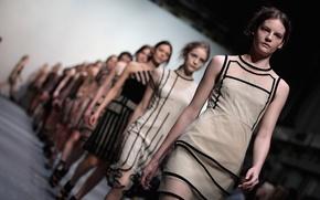 Picture podium, model, fashion, the show, London Fashion Week