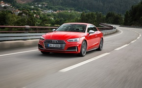 Picture road, car, auto, Audi, Audi, speed, red, Coupe