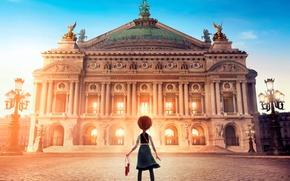 Picture cartoon, area, lights, girl, red, Palace, Ballerina, Ballerina