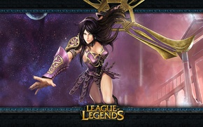 Picture girl, weapons, League of Legends, sivir