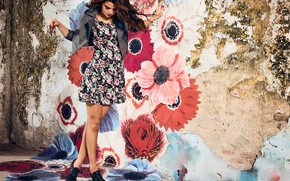 Picture photoshoot, Selena Gomez, clothing collection Neo, brand Adidas