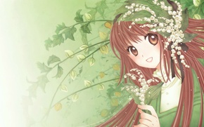 Picture smile, lilies of the valley, art, CLAMP, symphony of colors, kobato hanato