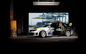 Picture background, Subaru, Impreza, skid, WRX, drift, Subaru, Impreza, STi, by Ken Block, Gymkhana, Ken Block, ...