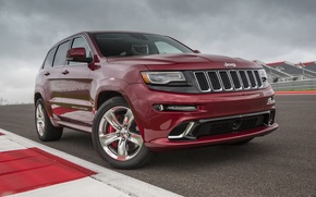 Picture car, track, car, track, SRT, Jeep, Grand Cherokee