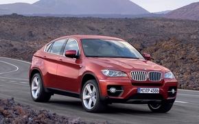 Wallpaper auto, road, bmw x6 road, BMW, machine