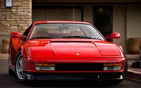 Picture red, the building, red, ferrari, Ferrari, bulding, Testarossa, 512, testarossa